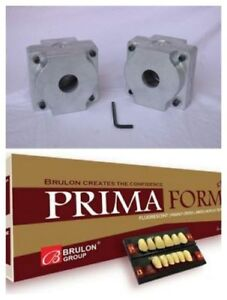 Free 10 Full Teeth Set Primaform With Dental Lab Flexible Denture Flask 2 Sets