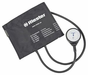 Two Tube Aneroid Sphygmomanometer With Adult Cuff Riester Made In Germany