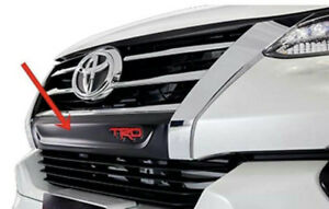Trd Front Bumper Grille Matte Black Cover For All New Toyota Fortuner 2015 18