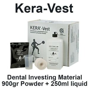 Dental Lab Kera Vest Casting Investment Material Made In Germany 900gr 250ml