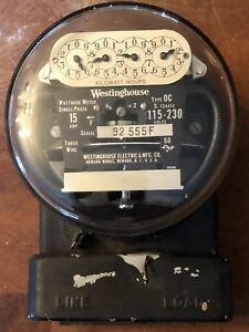 230 240 Volt 1930s Westinghouse Type Oc Electric Meter Last One