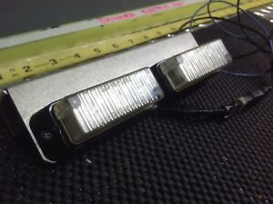 Whelen Tir3 Led Sync Blue white Lighthead On Bracket Lot Of 2 Tir3 01 0268494n