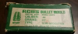 Two Cavity RCBS 44 225 SWC Bullet Mold -- Free Shipping!!!