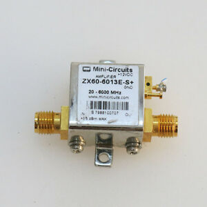 1pc Mini circuits Zx60 6013e s 20 6000mhz Sma Rf Coaxial Amplifier