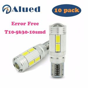 10x Hid White Canbus T10 10 Smd Projector Led Backup Reverse Light Bulb W5w 194