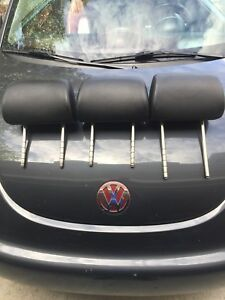 2003 2010 Headrests Vw Beetle Black Leather Volkswagen Left Right Qty 3