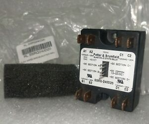 New Usa Oem Tyco Quad Solid State Relay 4 Channel 120 240 20a Ssrq240d20 Pb551nd