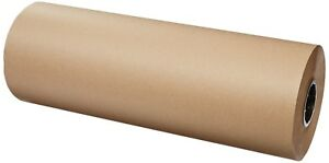Brown Kraft Paper Roll Wrapping Sheets 24 Inch 1200 Ft Packing Shipping Mailing