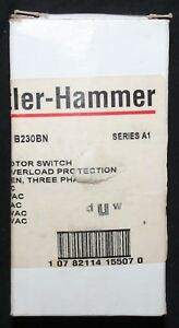 Cutler Hammer B230bn Manual Motor Switch 2 15 Hp 120 600v 2 Pole 30 Amp