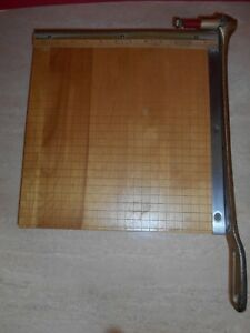 Vintage Ingento No 4 Guillotine Paper Cutter Ideal School Co 12 X 12 Maple