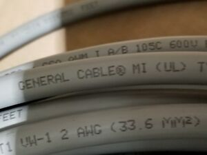 General Cable 2awg 7 Strand Tinned Copper Use rhh rhw Wire Xlpe Gray 50ft