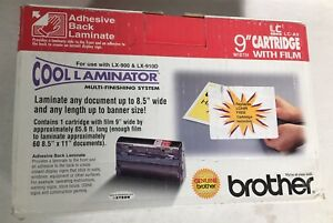 Brother Lc a9 9 X 65 6 Cool Laminator Cartridge Adhesive Backed Laminate