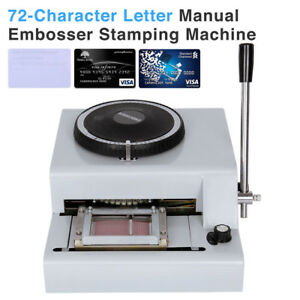 72 Character Pvc Card Embosser Embossing Machine Credit Id Vip Magnetic Stamping