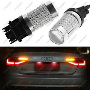 2x 144 Smd 3157 3156 Red Brake Tail Stop Turn Lights Super Bright Led Bulbs New