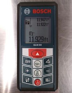 Bosch Glm 80 Professional Laser Measuring Tool 265 feet Lithium ion Ip54 Cert