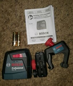 Bosch Gll 2 30 Ft Self leveling Cross line Laser Level With Clamping Mount