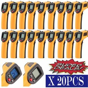 Lot 20 Temperature Gun Non Contact Infrared Ir Thermometer Digital Laser Gun To