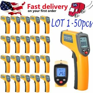 1 50 Digital Lcd Temperature Gun Non contact Digital Laser Ir Thermometrm Lot To