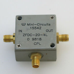 1pc Mini circuits Zfdc 20 4l 10 1000mhz 20db Sma Coaxial Directional Couplers