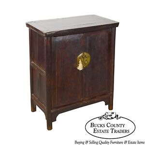 Antique Rustic 2 Door Asian Cabinet