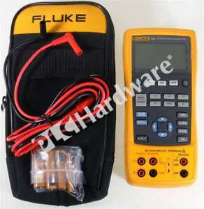 Fluke 724 Temperature Calibrator Multimeter With Lead Set Case