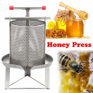 Honey Press Wax Machine Manual Beekeeping Presser Equipment 304 Stainless Steel