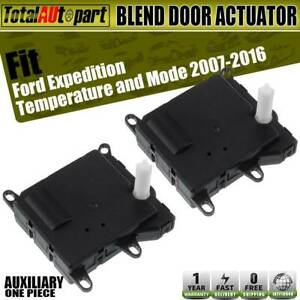 2x Hvac Heater Blend Air Door Auxiliary Actuator For Ford Expedition Auxiliary