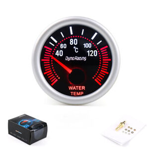 2 52mm White Led Water Temperature Temp Gauge Meter With Sensor Smoke Face Tint