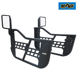 Eag 97 06 Jeep Wrangler Tj 2 Safari Steel Tube Doors Off Road With Side Mirrors