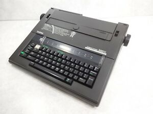Brother 300m Electric Electronic Typewriter W hard Cover Manual Works Great