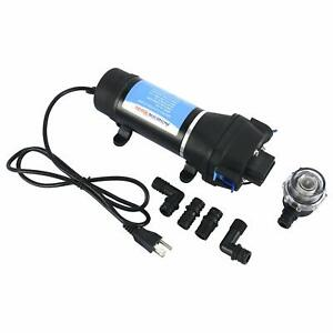 110v Ac Self priming Water Pressure Diaphragm Pump For Caravan rv boat marine