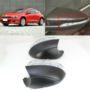 2 In Mirror Turn Signal Light Side Mirror Assemble Indicator For Vw Scirocco