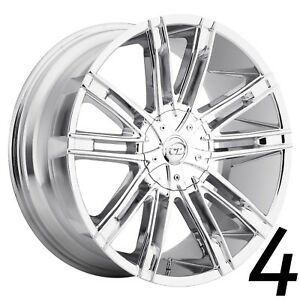 24 Inch Chrome Vct V28 Wheels Rims Dodge Charger Challenger 5x115 Silverado 5x5