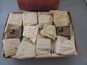 Factory Box Of Nos National Lock Co 1 1 8 Mortise Locks Cabinet Drawer Insert
