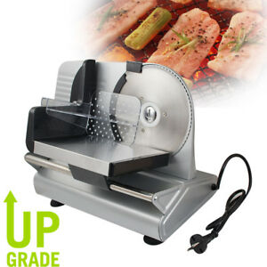 7 5 Electric Meat Slicer Steel Blade Bread Cheese Cutter Deli Food Machine 150w