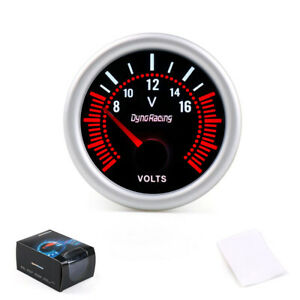 2 52mm White Led Car Pointer Tachometer Tacho Gauge Meter 0 8000 Rpm Smoke Face