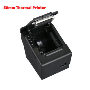 Pos58d Mini 58mm Pos Esc Receipt Barcode Thermal Printer With Usb Port Us eu uk