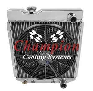 3 Row Jamn Champion Radiator W 16 Fan For 1964 65 1966 Ford Mustang V8 Engine
