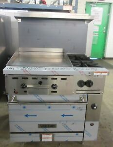 Vulcan 36 Natural Gas 2 Burner Range W 24 Thermostat Controlled Griddle