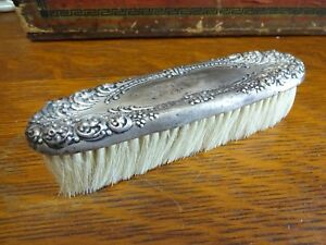 Vintage Antique Sterling Silver Vanity Clothing Brush Patented 2500
