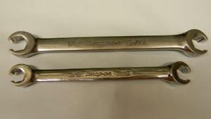 Snap on 2pc Sae 6pt Double End Flare Nut Wrenches rxfs1214a Rxfs1618a