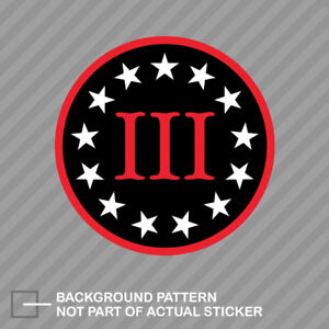 Round 3 Percenter Nyberg Sticker Decal Vinyl Gun Rights 2a Nyberg Flag Iii 3