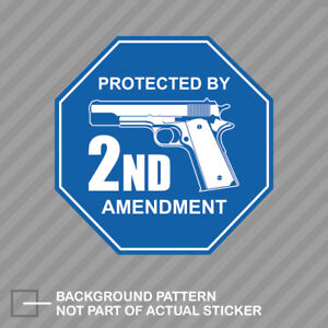 Protected By 2nd Amendment Sticker Decal Vinyl Gun Rights 2a Molon Labe