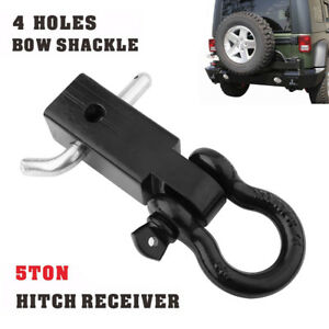 Bt360 Recovery Trailer Hitch Shackle Bracket 2 Receiver 5t 3 4 Inch D Ring 4wd