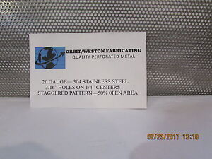 3 16 Holes 20 Gauge 304 Stainless Steel Perforated Sheet 10 X 22