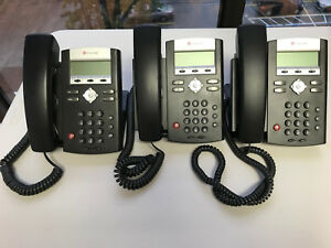 Lot Of 3 Polycom Soundpoint Ip 320 Sip Telephone Ip320sip Voip Phone