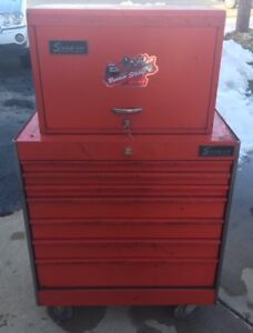 Vintage 1970s Snap On Kr557 Roll Cab Kra 59c Top Box Toolbox Tool Chest Combo