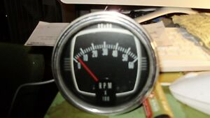Vintage Tachometer 6000 Rpm Hot Rod Rat Boat Car 4 Inch Nice Condition Scta 32