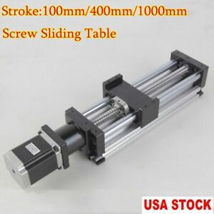 Us Ball Screw Linear Cnc Slide Stroke 400 1000mm Liner Actuator Stepper Motor