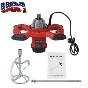 6speed Electric Mortar Mixer 1500w Dual High Low Gear Paint Cement Grout 110v Us